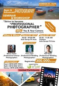 Seminar & Workshop Photography 24 Maret 2017