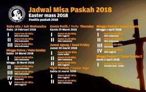 Jadwal Misa Paskah 2018