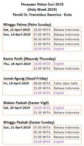 Jadwal Paskah 2019 v02