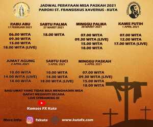 Jadwal Paskah 2021